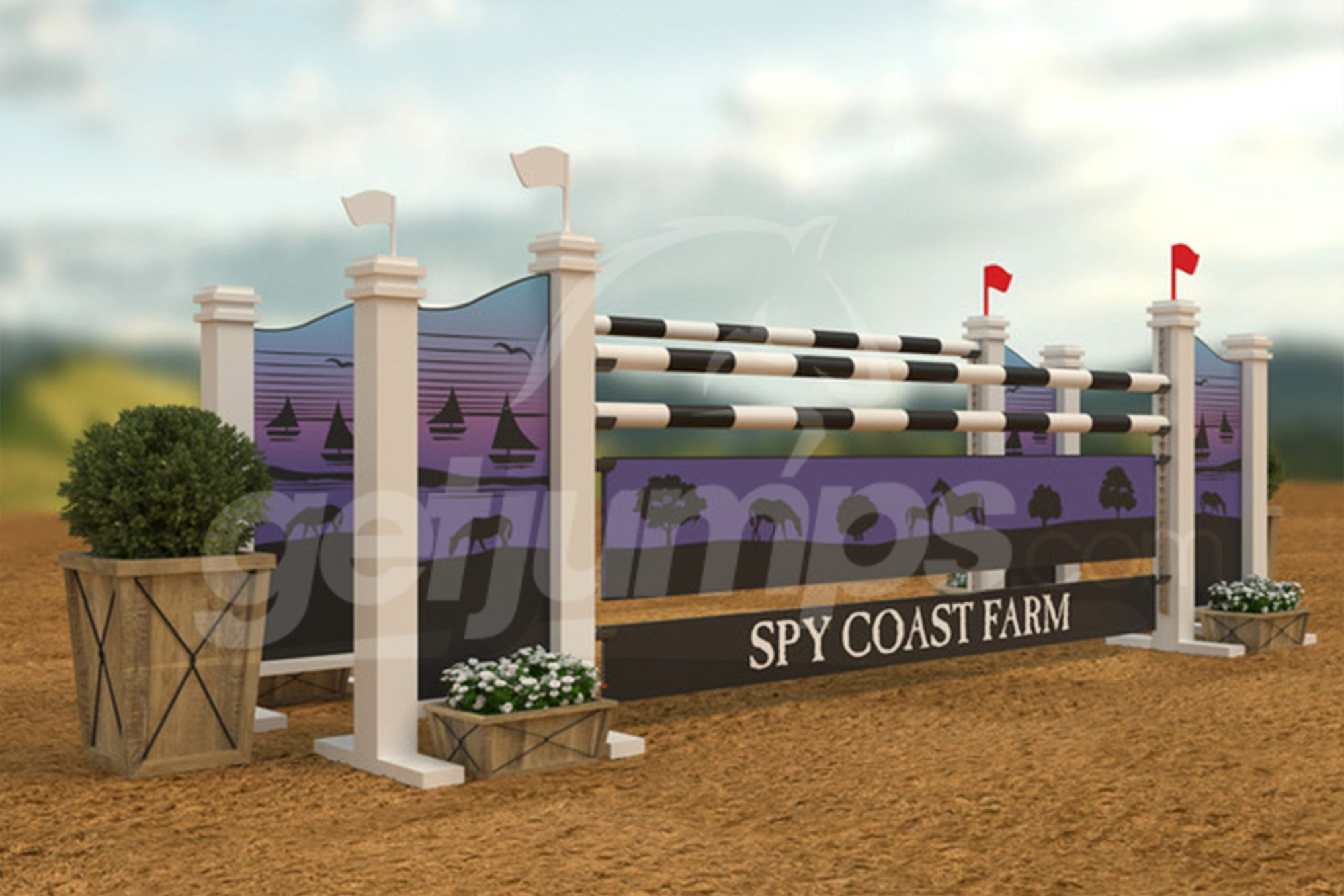 Spy Coast Farm themed horse jump