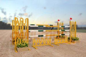 curve - complicated design yellow aluminum jumper jump