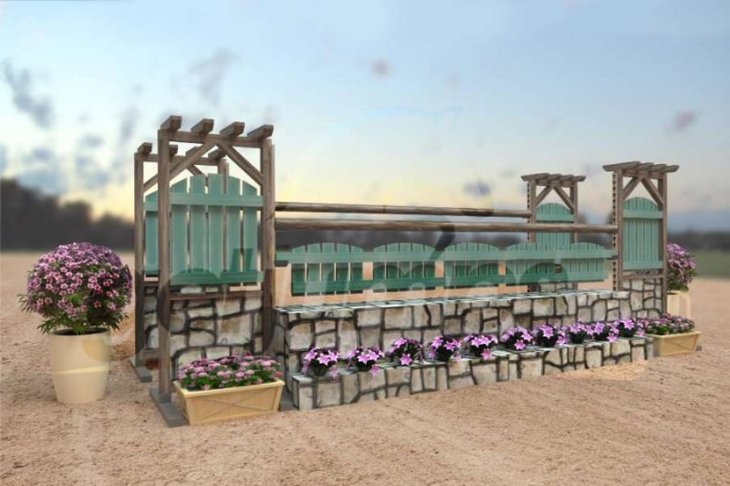 pergola picket - wooden hunter jump