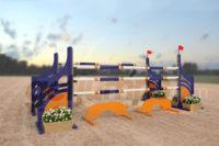 perwinkle - orange and purple aluminum jumper jump