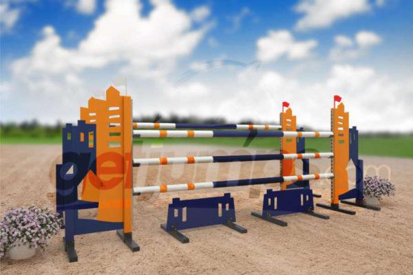 villa - orange and dark blue aluminum jumper jump